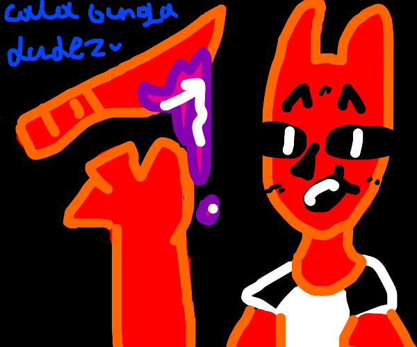demon with a red sword