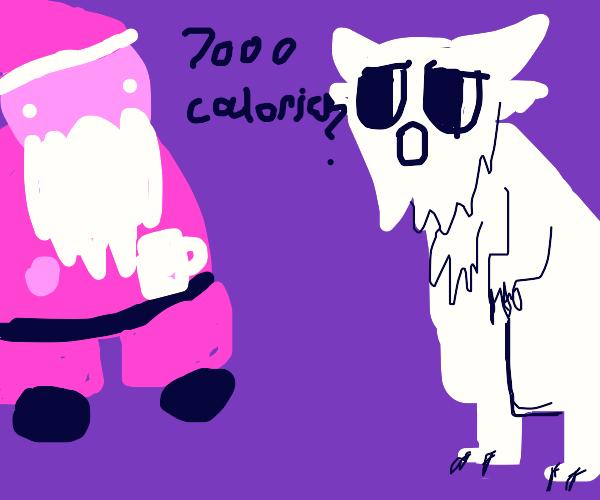 Santa's 7000 calorie coffee