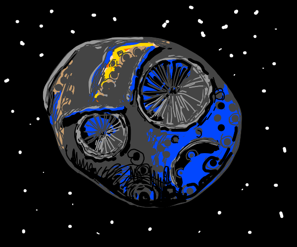 angry asteroid