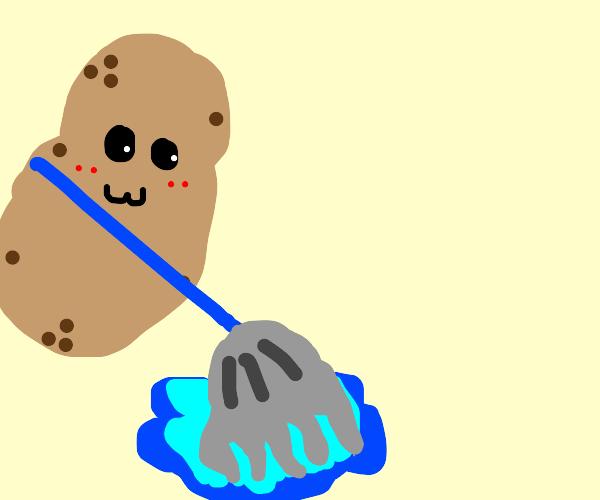 Potato mopping