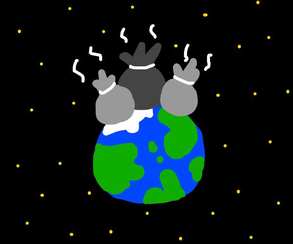 Trash on earth
