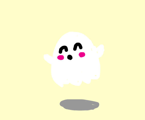 Adorable little white ghost