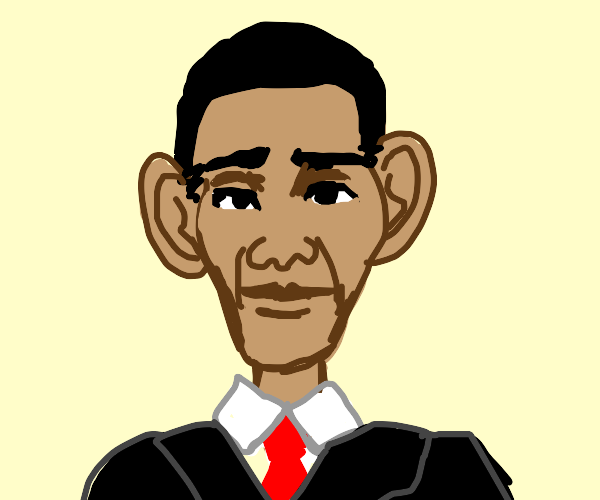Cartoon Barack Obama