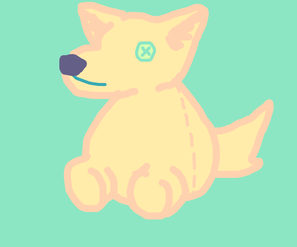 chumby wolf plushie without arms