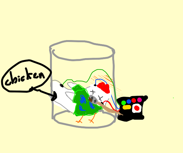 Chicken on life support