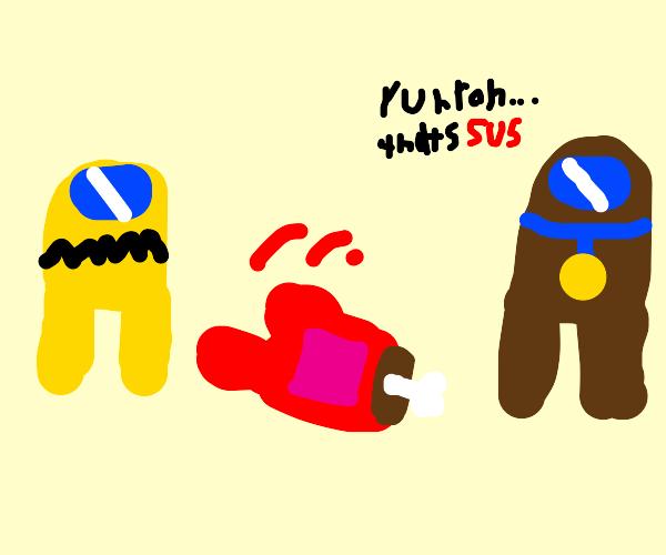 Cartoon doing susu