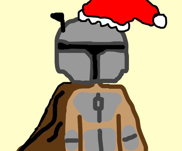 Mandalorian but festive