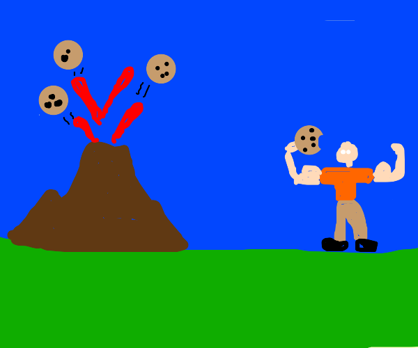 Lava cookie makes you strong