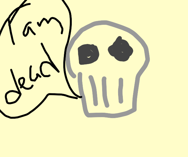 a skull saying that he's dead