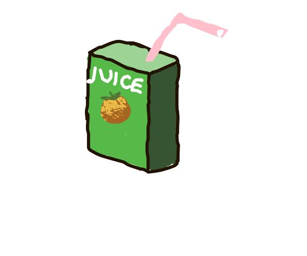 Orange juice box