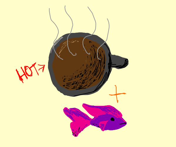 coffee w/ fish