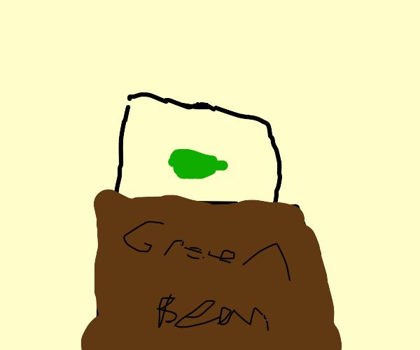 Green Bean in a Museum