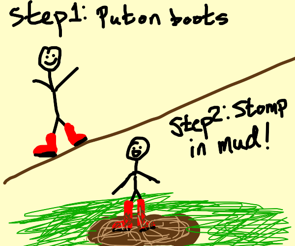 Steps to get your boots muddy