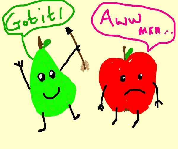 pear got the arrow