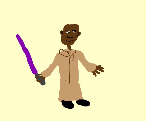 Mace Windu and his purple lightsaber