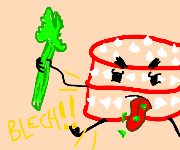 bfdi cake hating celery