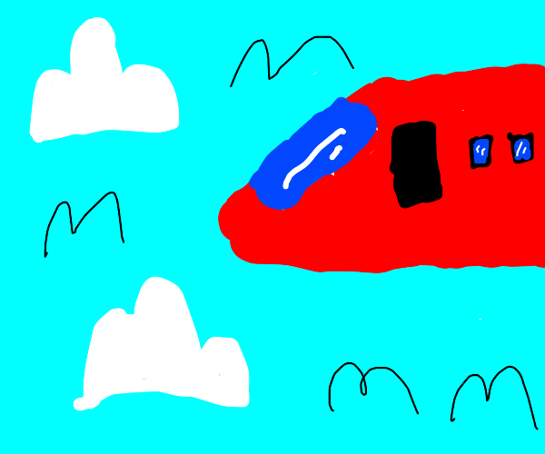 a red plane