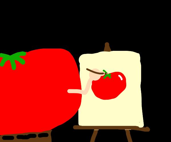 A tomato's self portrait