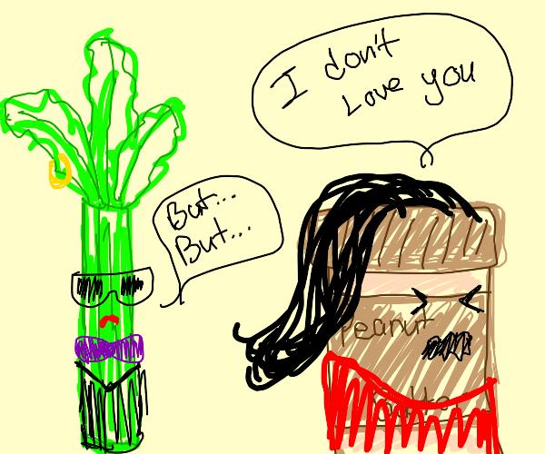 hipster celery longs for penut butter