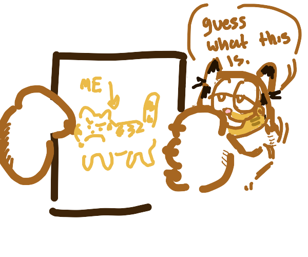 Garfield playing Drawception