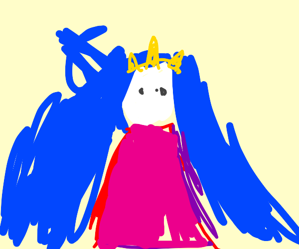 Blue haired princess