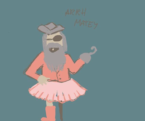 Bearded Pirat with skirt