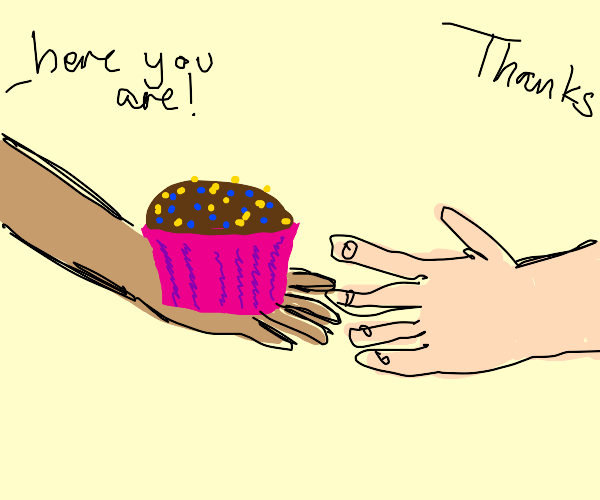 Passing on a cupcake