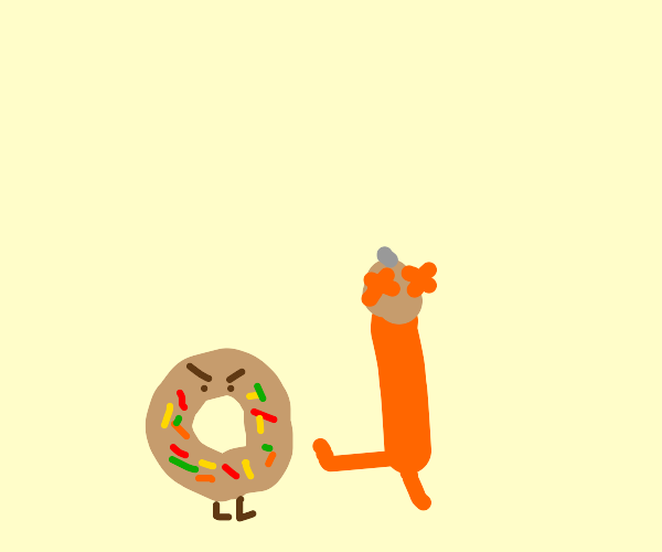 Pencil died after kicking a donut