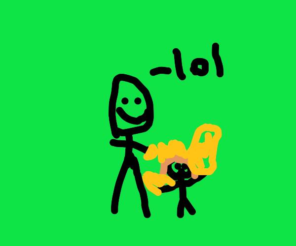 Gaslighting a child