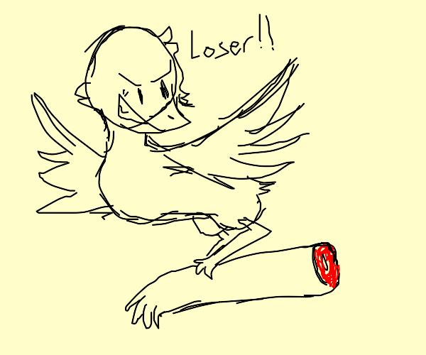 Bird carries off human arm
