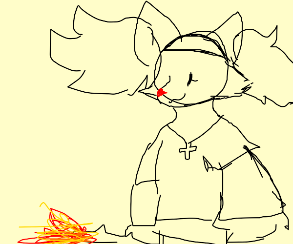Delphox becomes the pope