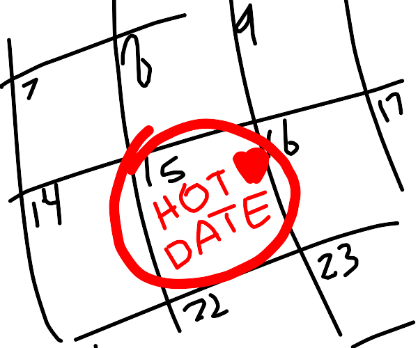 Marking the day for the hot date