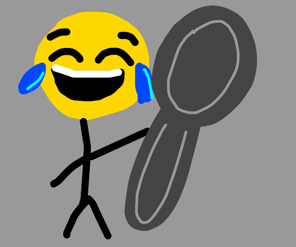 laughing emoji person with giant spoon
