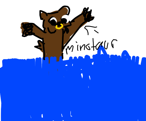 Minotaur playing in the Water