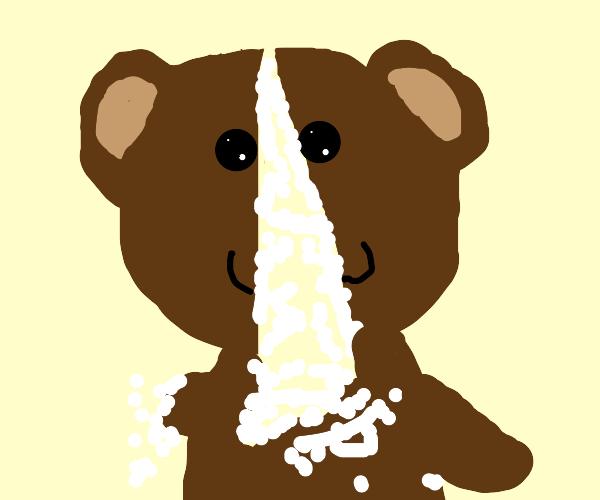 teddy bear ripped apart