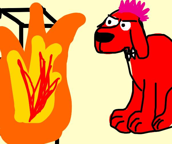 Punk Clifford Watching the World Burn
