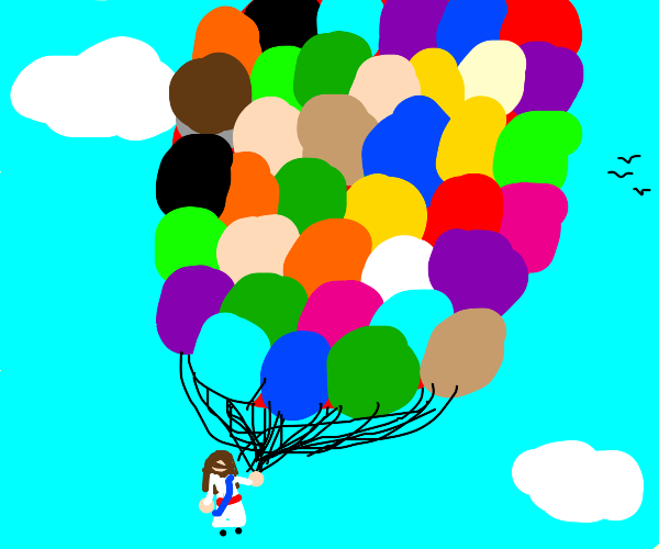 Jesus that's a lot of balloons!!!