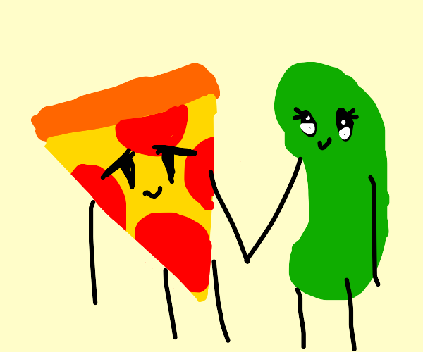 Pizza and pickle gf go to daycare