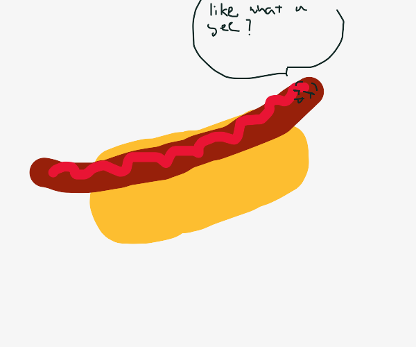 hot dog asks if you like what you see