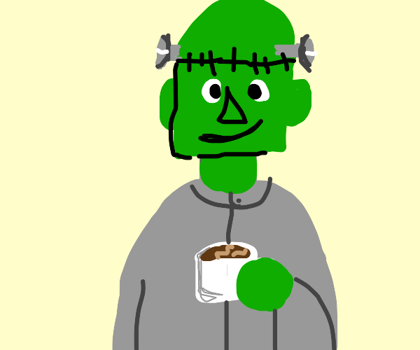Frankenstein with cofee