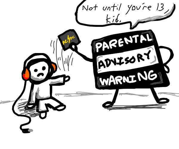 Parental Advisory warning