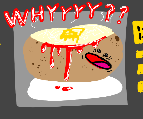 bloody baked potato