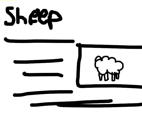 Sheep on Wikipedia
