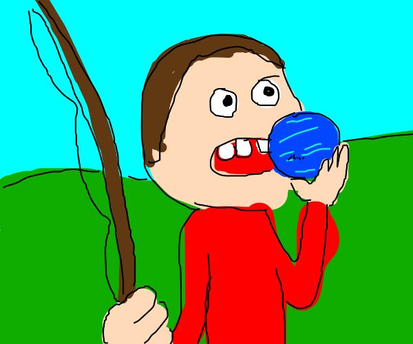 eating Neptune while fishing