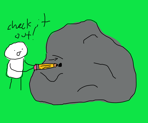 This boulder is also a pencil sharpener