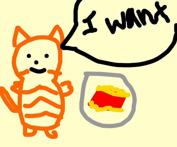 Garfield really wants lasagna