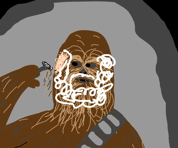 chewbacca shaving