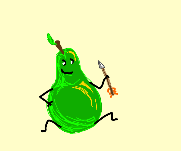 Pear has arrow.