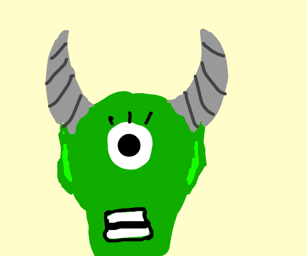 cyclops with two horns