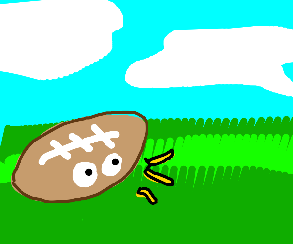 Football surprised at grass